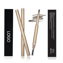 50pcs/lot Wholesale Eyebrow Enhancers Long Lasting Brown Eyebrow Pencil Private Label Cosmetics Makeup Paint Tattoo Eyebrow Tint