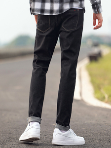 Image 4 - Pioneer Camp Mens Black Jeans Classic Autumn High Quality Pants Casual Straight Denim Trousers Male 2020 ANZ908219A