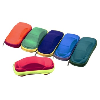 Children Car Shaped Glasses Case Cute Glasses Strage Bag Box Cases Kids Sunglasses Cases Color Random image