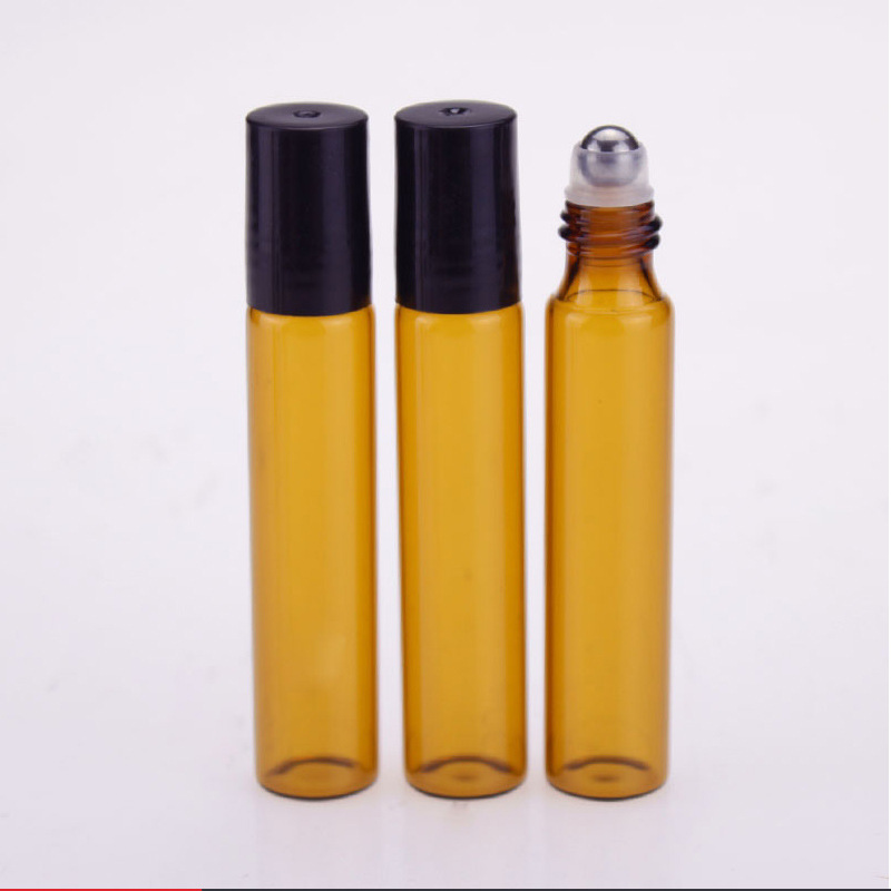 5/10ml Glass Roll-on Bottles With Stainless Steel Roller Balls Essential Oil Bottle Refillable Bottle Empty Cosmetic Containers