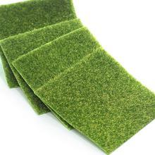 Artificial Grass Mat Plastic Lawn Grass Green Synthetic Garden Grass For Garden Mini Dollhouse Decor Turf Ornament Miniatur I9T6