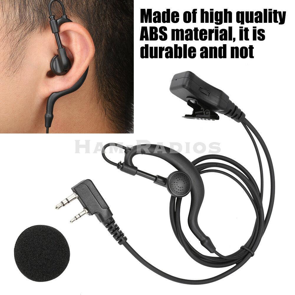 YiNiTONE Walkie Talkie Earpiece Can Tune Volume G-shape  Earphone PTTHeadsetfor Baofeng Kenwood TYTRadio