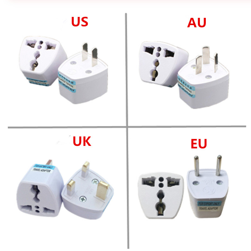 UK//US//AU to EU European AC Power Plug Travel Wall Adapter Converter In CA