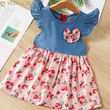 Summer Fashion Baby Dress Flying Sleeve Floral Dress Child Beach Princess Dress Children's Clothing Girl Clothes Evening Dress