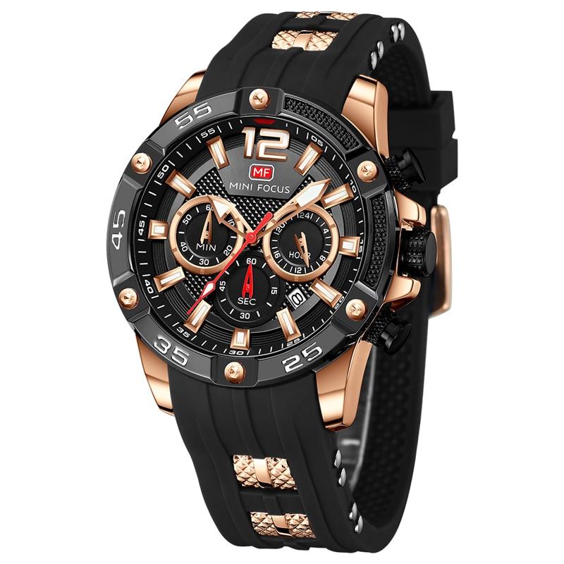 Relojes para Hombre de oro 2019 Relojes para Hombre marca de lujo reloj de los hombres de silicona cronógrafo deportes hombres Relogio reloj - 3