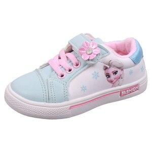 Image 1 - Niños Niñas zapatos de pisos casuales niños estudiante zapato niño zapatillas de deporte de moda Elsa Anna zapatillas de deporte de invierno deporte de abrigo zapato