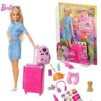 Originale Barbie Da Viaggio di Marca Principessa Americano Bambole Del Bambino Bambola per il Regalo Di Compleanno Della Ragazza Giocattoli Boneca Giocattoli per I Bambini