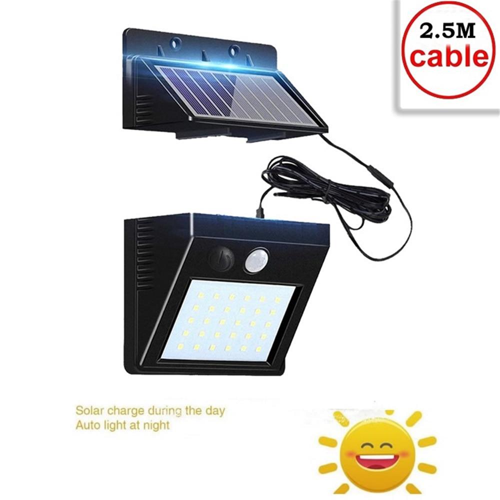 Wall-Lamp Lighting Garden-Lights Powered-Panel Motion-Sensor Street Outdoor Waterproof