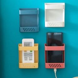 Mobile Phone Storage Box No Punching shelf Remote Control Storage Box Storage Rack Bedside Convenient Wall Mounted Storage Box