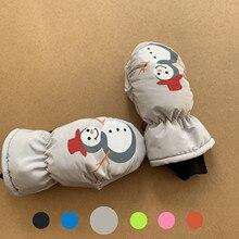 Gloves Winter Skiing Cold Outdoor Waterproof Children's New Cartoon Fasion Sagace Snowman