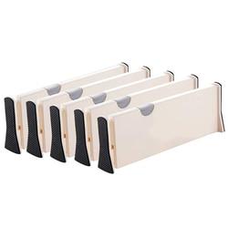 Dzielniki do szuflad Organizer 5 paczek  regulowane separatory 4 Cal wysoki rozszerzalny od 11-17 Cal do sypialni łazienka szafa