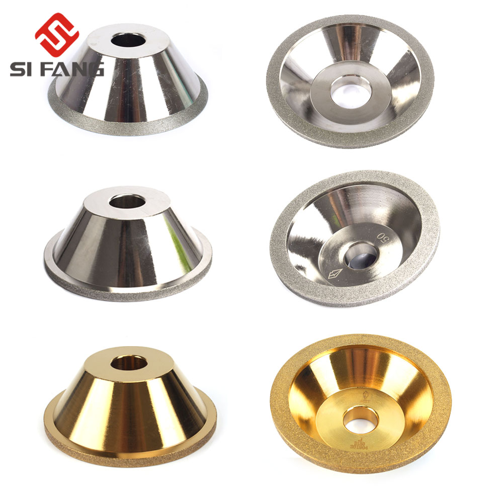 Diamond Grinding Wheel Cup Electroplate Grinder Cutter Grinding Disc For Tungsten Steel Milling Cutter Tool Sha