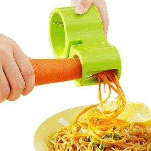 Спиральная овощерезка, ручная овощерезка из нержавеющей стали с точилкой для кухонных ножей точильный камень для шеф-повара