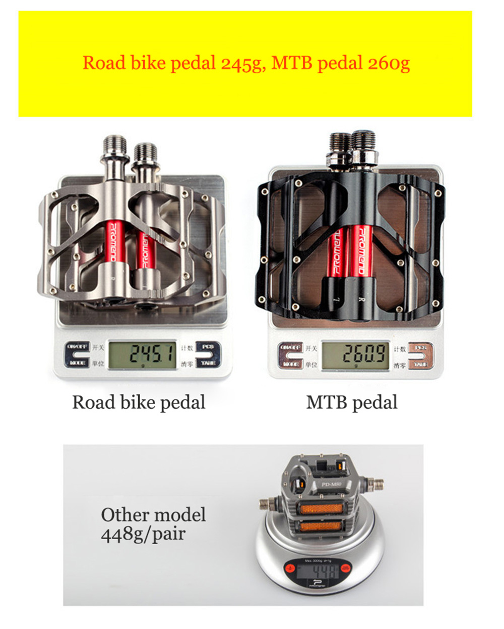 Купить с кэшбэком Road Mountain Bike Pedals 3 Bearings Pedales Bicycle MTB Cycling Ultra-Light Anti-Slip Accessories Parts Riding Outdoor