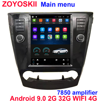Android 9.0 10.4 inch car gps multimedia for Nissan X-Trail Qashqai j11 j10 Radio 2014 2015 2016 2017 2018 2019 vertical screen image