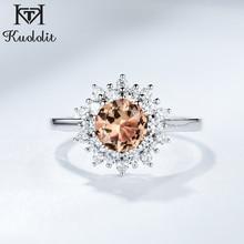 Kuololit Solide 925 Sterling Silber Ringe Für Frauen Mädchen Diaspore Zultanite Sultanite Edelstein Weihnachten Geschenk Teil Feinen Schmuck