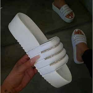 2020 Women's Slippers Fashion Casual Slippers Women Thick Platforms Shoes Slippers Flip Flops Ladies Slides Rome Beach Sandals