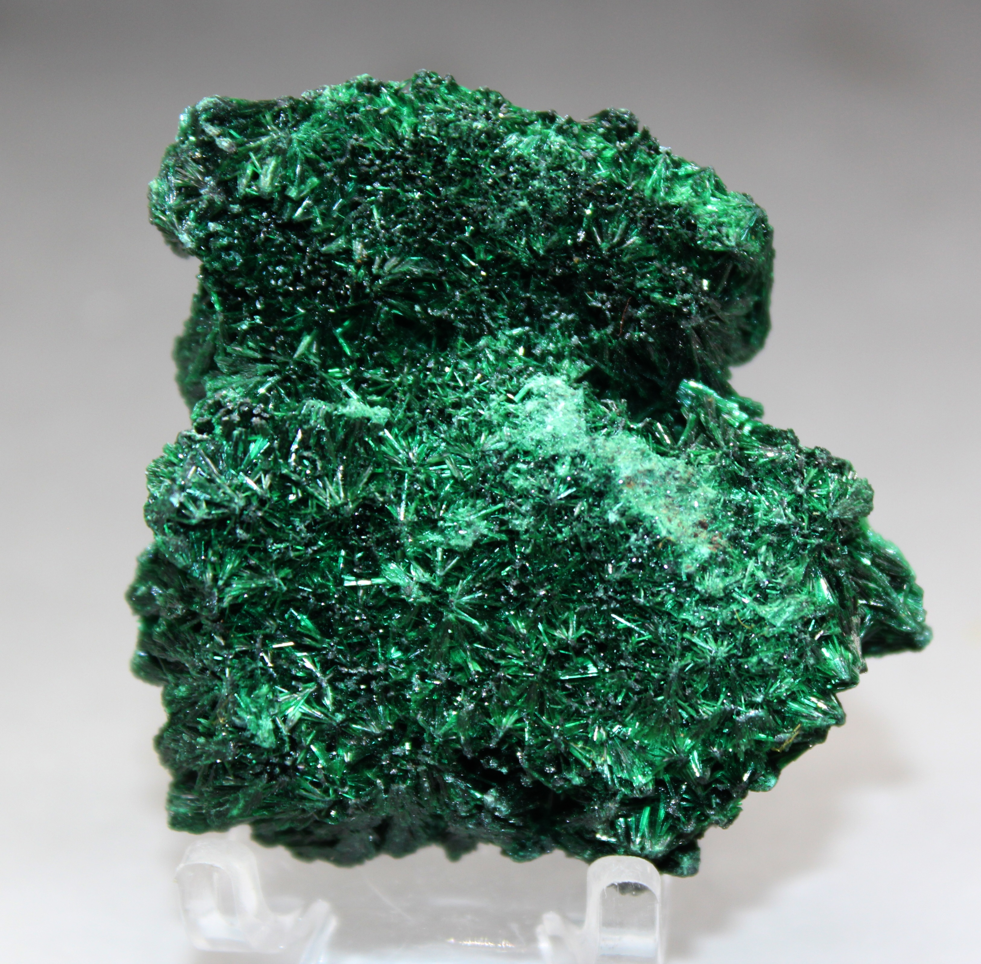 55g Natural rare acicular malachite mineral specimen green stone crystal teaching specimen collection