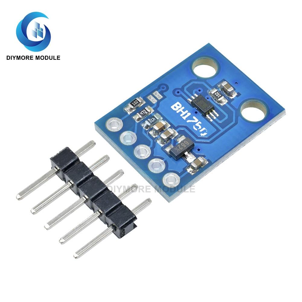 GY-302 BH1750FVI Module de capteur déclairage dintensité lumineuse 3-5V 16bit convertisseur AD haute précision pour Arduino