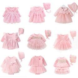Neue geboren Baby Mädchen Prinzessin Kleid & Kleidung Baby Taufe Kleid 2020 Infant Taufe Kleid vestidos 0 3 6 9 monate Kinder Outfits