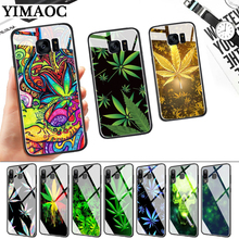 Abstractionism Art high weed Glass Case for Samsung S7 Edge S8 S9 S10 Plus S10E Note 8 9 10 A10 A30 A40 A50 A60 A70