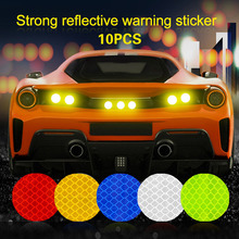 Car-Reflective-Strip Backpack Safety-Sticker Round for Bus Bicycle Baby Waterproof Solid-Color