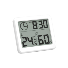 New Ultra-thin Digital Clocks LCD Electronic Temperature Humidity Desk Clocks When Holder Home Wall Clock Thermometer Hygrometer