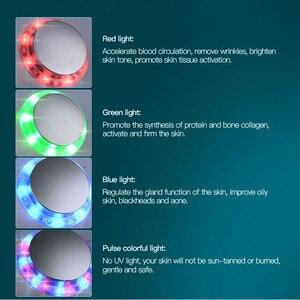 Image 5 - Masseur Facial ultrasonique Led Photon 7 couleurs, rajeunissement de la peau, thérapie à la lumière, lifting, dispositif de beauté, Anti rides