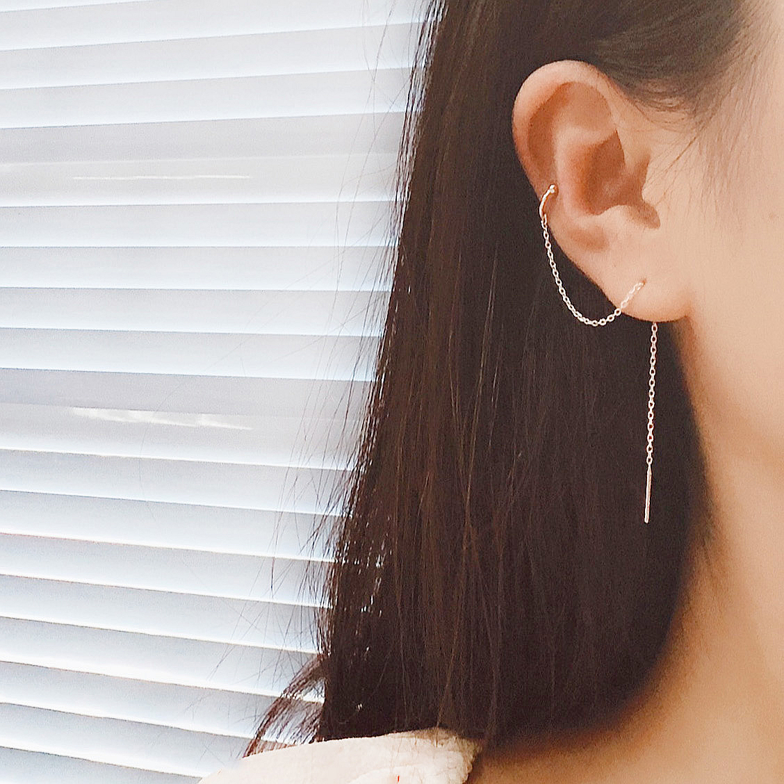LISM 1 Pair Real 925 Sterling Silver Earrings For Women Fashion Jewelry Long Tassel Ear Clips Ear Line Party Gifts