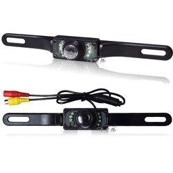 Na pokładzie kamera wsteczna System dziurkowane światło podczerwone Night Vision na kamera pokładowa ramka do tablicy rejestracyjnej kamera internetowa w Kamery pojazdowe od Samochody i motocykle na