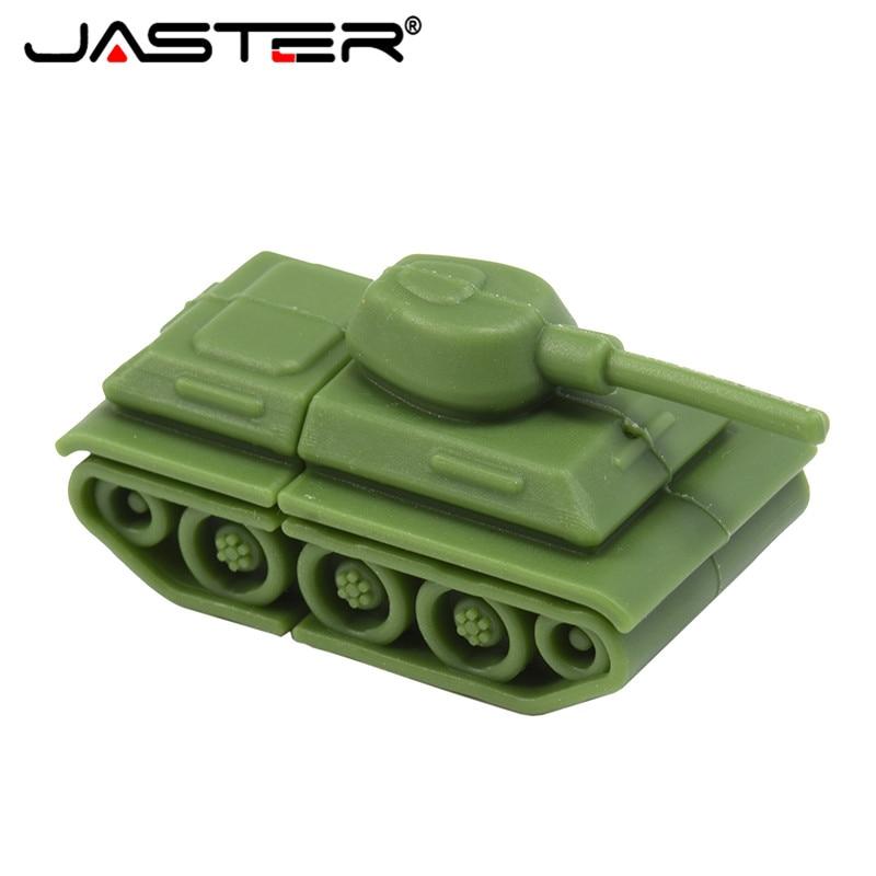 JASTER Hot Fashion Creative Military Tank Chariot Real Capacity USB Flash Drive 2.0 4GB/8GB/16GB/32GB/64GB Memory Stick