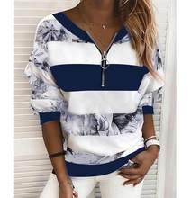 Women's Blouse Shirt Striped Color Block Long Sleeve Print V Neck Tops Basic Top Blue Yellow Blushing Pink