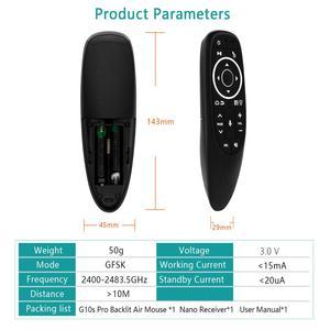 Image 4 - G10S Pro с подсветкой Air Mouse Голосовое управление с подсветкой Gyro Sensing Mini беспроводной умный пульт дистанционного управления для Android tv box PC