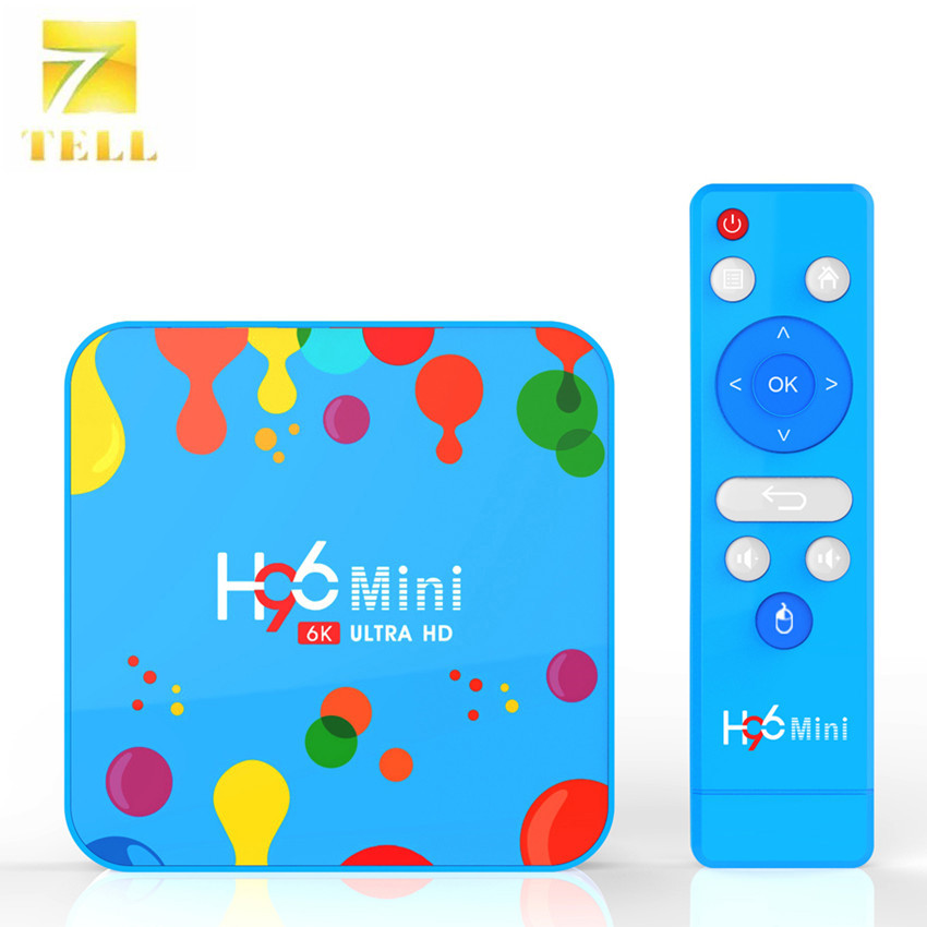 5PCS H96 mini H6 4GB 128 GB/4 GB 32GB Android 9.1 Smart TV BOX 1080p H96 TV BOX 2.4G/5G WIFI Blutooth 6K Video Decoder-in Set-top Boxes van Consumentenelektronica op  Groep 1