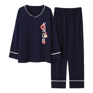 Image 2 - גדול גודל M 5XL נשים פיג מה סטי Nightwear רך סתיו חורף ארוך שרוול פיג Cartoon הדפסת הלבשת נקבה פיג מות Muje