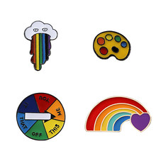 น่ารัก Multicolor Rainbow Heart Sketchpad Cloud(China)