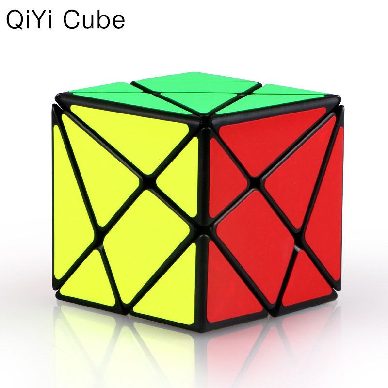 Original QIYI Axis Magic Speed Cube Change Irregularly Jinggang Puzzle Speed Cube With Frosted Sticker 3x3x3 Black Body Cube