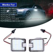 Luz LED para espejo lateral de coche, luces de cortesía para Ford Focus 3 2013 Kuga 2 2012 Mondeo MK4 IV c-max 2 Escape 2015, 2 uds.