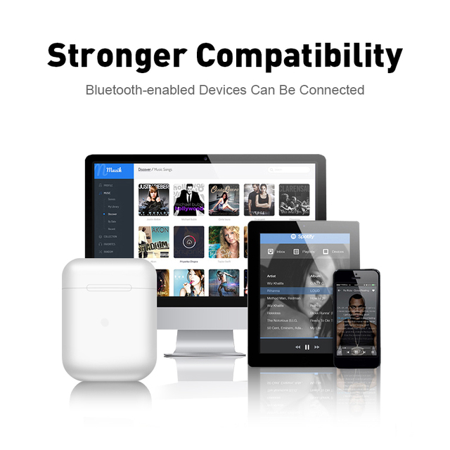 Wireless Headset inPods 12 TWS Touch Key Bluetooth 5.0 Sport Earphone Stereo For iPhone Xiaomi Huawei Samsung Smart Phone 3