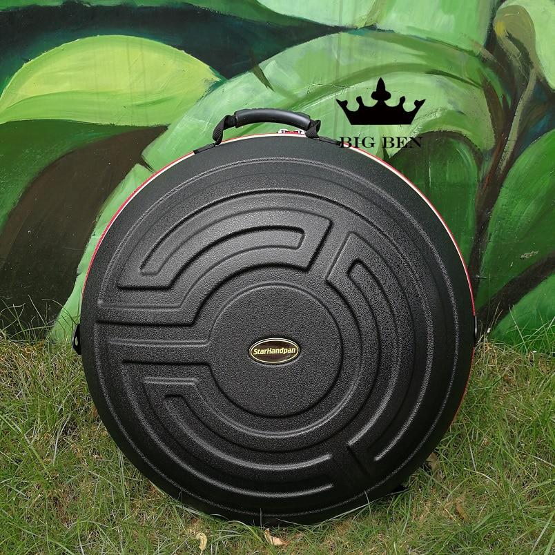 Thick Soft Sponge Compression Material HANDPAN Case Big Drum Box Double Straps Backpack Handpan Bag HandPan Drum 9note / 10note