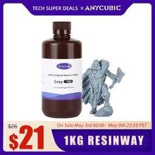 Resina de resinway 405nm para a impressora 3d lcd anycúbico fóton mono x impressão 3d material resinas uv