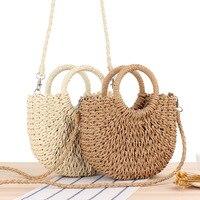 sac de plage en paille à bandoulière produit