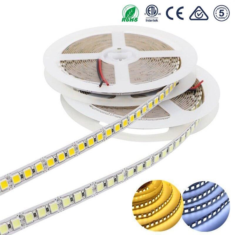 5054 120leds/m DC 12V 12 24 V SMD LED Strip Light 5M Flexible Tape Ledstrip Diode Waterproof Brighter Than 5050 White/Warm White