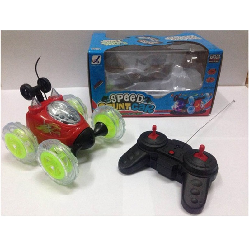 Remote Control Stunt Dumpers Light Included Light Car Off-road 360 ° Rotating Dancing Children Boy Toy Car
