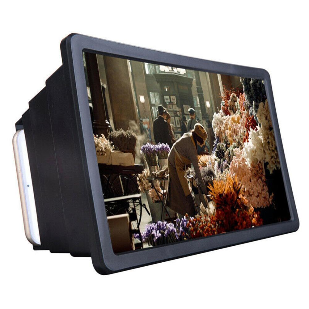 1pc Cell Phone Screen Magnifier 3D HD Movie Video Amplifier With Foldable Holder Stand High-quality Video Amplifier