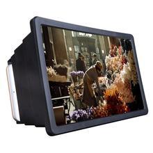 1 lupa de pantalla de teléfono móvil amplificador de vídeo de película HD 3D con soporte plegable amplificador de vídeo de alta calidad