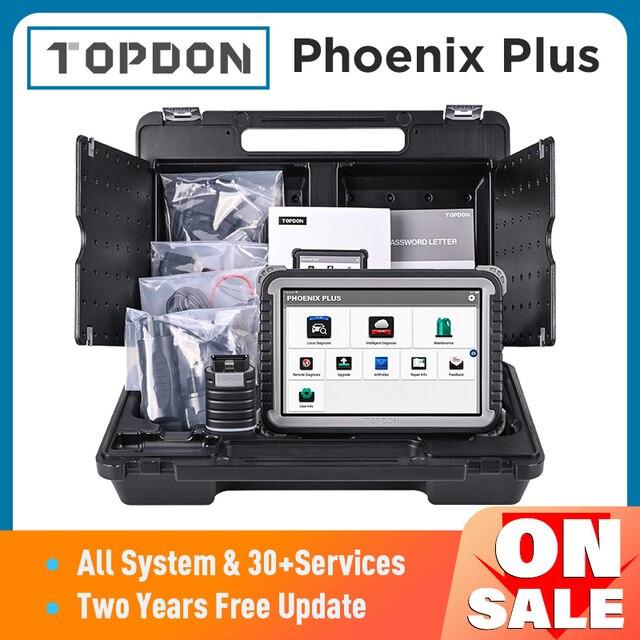Topdon Phoenix Plus Auto Diagnostische Scanner Auto Scan Automotive Professionele Diagnose Diagnost Ecu Codering 2 Jaar