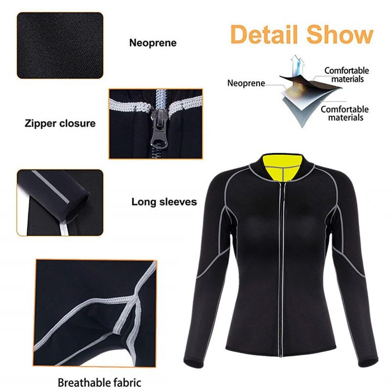 Image 5 - Женский утягивающий корсет, длинная рубашка + штаны, хит продаж, утягивающий корсет для сауны, неопреновый утягивающий корсет     АлиЭкспресс