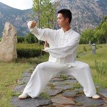 USHINE HX12 white chinese styleTaiChi long sleeve KungFu uniform Wushu TaiChi Taichi clothes male female