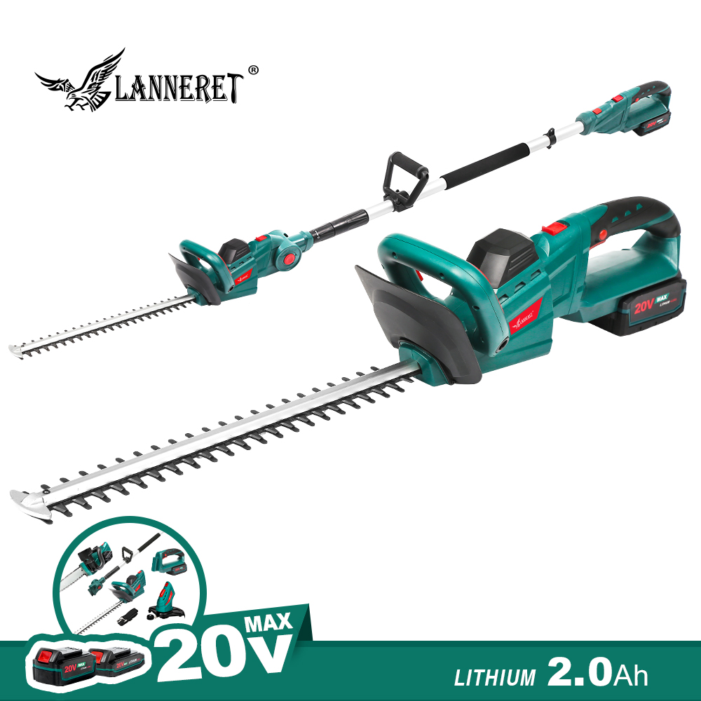Electric Hedge Trimmer 20V Cordless Pruning Shears 2.0Ah Rechargeable Weeding Hedge Household Mower Pole Trimmer Garden Tools